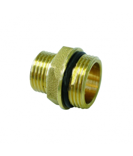 "Niples dritto maschio 3/4"" x 1/2"" con o'ring per collettori TIEMME"